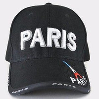 Paris France Black Baseball Cap Eiffel Tower Hat Adjustable One Size Fits All Pray For Paris Acrylic Sun Hat Pray Fir Paris Black Cap Gift