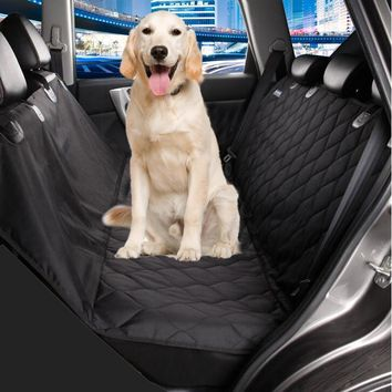 Quilted dog car seat cover light weight car cover for pets dog black hammock anti-slip foldable dog car mats pet carrier bag