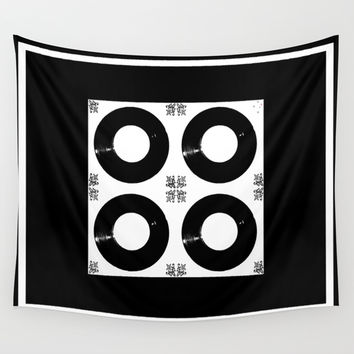 Records Wall Tapestry by Derek Delacroix