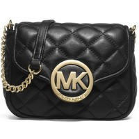 Michael Kors Small Fulton Quilted Crossbody BLACK