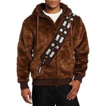 Star Wars I Am Chewie Chewbacca Furry Costume Hoodie Coat Sweatshirt Jacket Cosplay