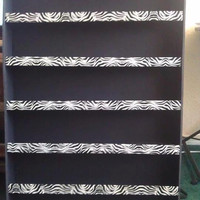 Black Background with Zebra Print Nail Polish Rack
