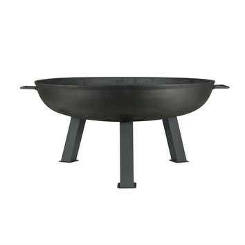 Large 30-inch Cast Iron Fire Pit Bowl with Sturdy Steel Legs