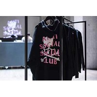 Anti Social Social Club x MMJ Skull Print Plus Velvet Sweater S-XL