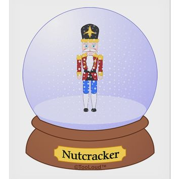 "Nutcracker Snow Globe - Red Gold Black 9 x 10.5"" Rectangular Static Wall Cling by TooLoud"