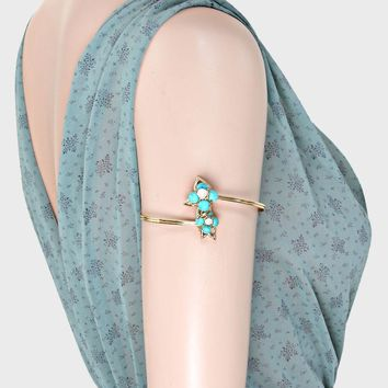 Flower Pearl Upper Arm Cuff