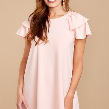 The Way She Is Peach Rose Dress