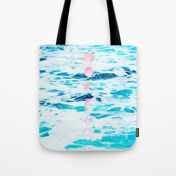 Beach Baby, Moon Baby Tote Bag by cadinera