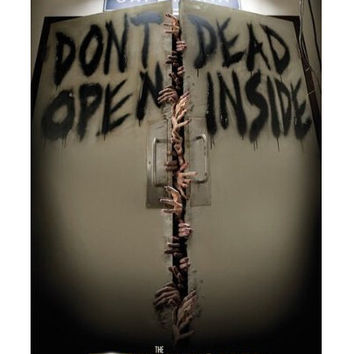 The Walking Dead Keep Out Custom Wall Paper HD Pictures and Prints Retro posters Wall Sticker office home decor U1-616
