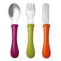 BEABA® 3-Piece Stainless Steel Cutlery Set in Gypsy
