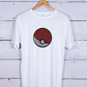 District Pokemon Typograph Tshirt T-shirt Tees Tee Men Women Unisex Adults