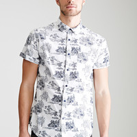 Toile Print Button-Down Shirt
