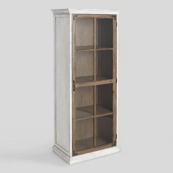Two Tone Wood Camilla Farmhouse Curio Cabinet