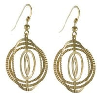 High Fashion Sterling Silver with Yellow Gold Overlay Globe Style Earrings!