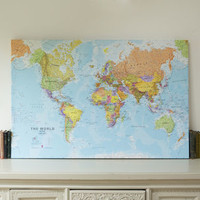 World Canvas Map Print