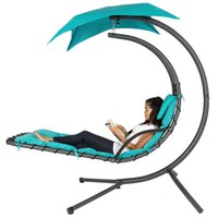 BCP Hanging Chaise Lounger Chair Arc Stand Air Porch Swing Hammock Canopy - Walmart.com