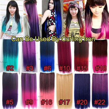 Clip in hair extensions straight hair colors cosplay wigs synthetic hair highlight sexy hairpiece = 1932746052