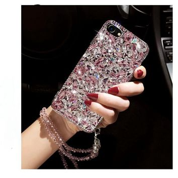 Luxury Rhinestone Glitter Case for iPhoneX  5 6 7 8 and Samsung Galaxy S5 S6 S7 Edge Note 4 5 8