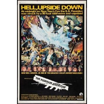 Poseidon Adventure Movie poster Metal Sign Wall Art 8in x 12in