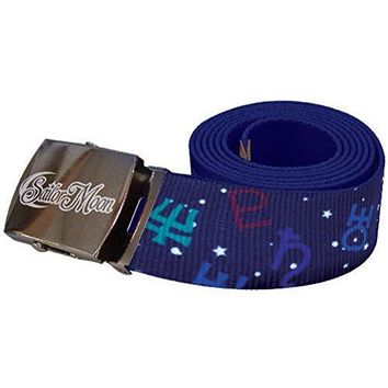 Sailor Moon Men's S Outside Solar System Sailor Anime Belt One Size