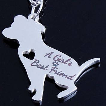 Pitbull: A Girl's Best Friend Necklace
