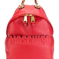 Moschino Embossed Logo Backpack - Divo - Farfetch.com