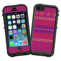 """Purple Tribal """"Protective Decal Skin"""" for LifeProof nuud iPhone 5 Case"""