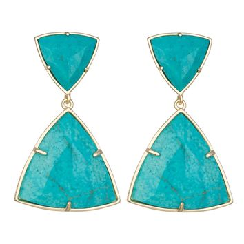 Kendra Scott Maury Statement Earrings in Turquoise