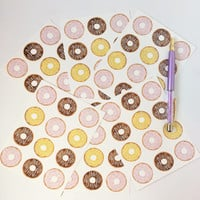 Donut postcard set