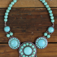 Turquoise Medallion Necklace Set – Sugarcloth