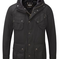 Barbour International Men's Fog Parka – Black MWX0570BK91 | Country Attire