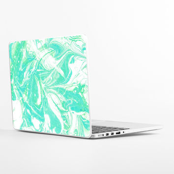 Pale Mint Marble Laptop Skin