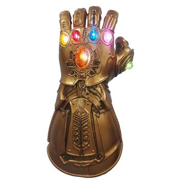 Thanos Gauntlet with Led Light Movie Avengers Infinity War PVC&Latex Glove Cosplay Prop Costume Halloween Accessory