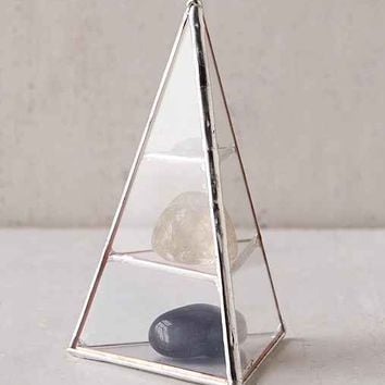 ABJ Glassworks Lyra Pyramid Box- Silver One