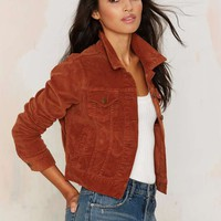 Nasty Gal Cord Hoarder Jacket - Brown