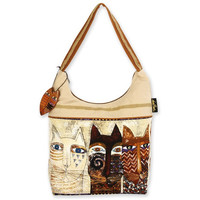 Laurel Burch Ancestral Cats Scoop Hobo Purse