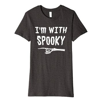 I'm With Spooky Halloween Premium Shirt Party Gift Skeleton