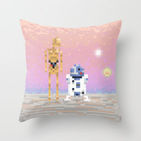 C-3PO & R2-D2 Throw Pillow by lovemi | Society6