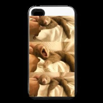 "Iphone 4/4S Hard Case ""Yawning Sloth"""