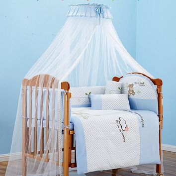 Princess Girl Baby Crib Mosquito Netting,Round Bed Canopy Curtain Dome Mosquito Net,Infant Kids Crib Mosquito Nets,Insect Net