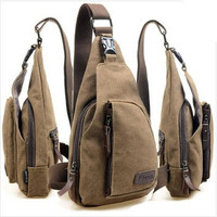 Mens Sport Canvas Messenger Bag - Casual Travel Hiking