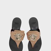 Versace Palazzo Flat Thong Sandals for Women | US Online Store