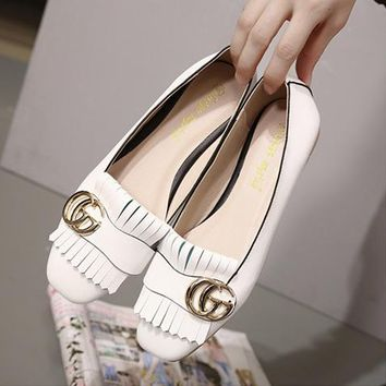 GUCCI fashion Single shoes