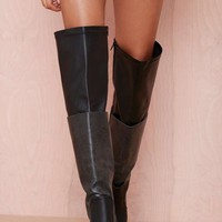 Jeffrey Campbell Elvira Leather Thigh High Boot
