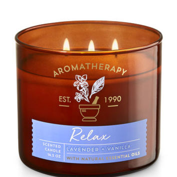 RELAX - LAVENDER & VANILLA3-Wick Candle