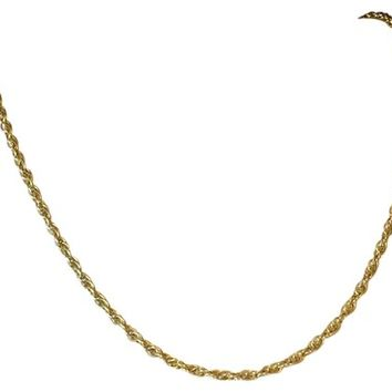 Gold 14k Yellow Chain Unisex Vintage Necklace