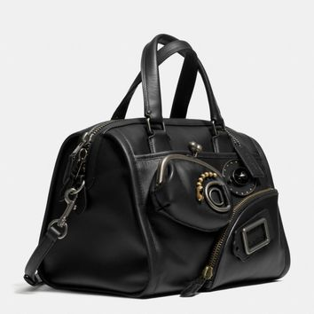 COACH CREATURES ZIPPY SATCHEL IN LEATHER