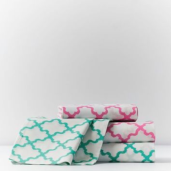 Breezy Lattice Sheet Set