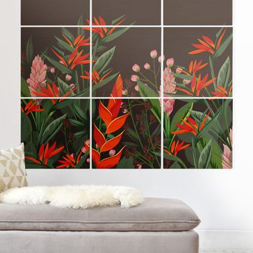 Viviana Gonzalez Dramatic Florals Collection 01 Wood Wall Mural | Deny Designs
