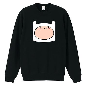 Human teenage boy Finn cartoon Adventure Time with Finn and Jake couple clothes woman pullover